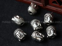 Wholesale 2015 Fashion DIY Beaded Jewelry Accessories Alloy Handmade Bracelet Necklace Buddha to be head Tibetan silver fittings SP22