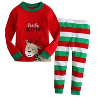 Wholesale 2015 Children Kids Christmas Pajamas Set Baby Boys Girls Character Pyjamas Suits Girl Autumn Winter Sleepwear pyjama enfant JIA615