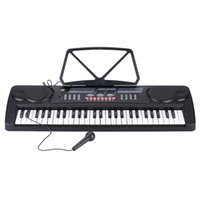 Wholesale Multifunctional Keys Digital Electronic Keyboard Electric Piano with Sheet Music Holder Microphone UK AU EU US plug order lt no track