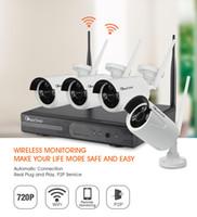 Wholesale New Wireless NVR Kit P2P P HD Outdoor IR Night Vision Security IP Camera WIFI CCTV System