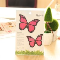 Wholesale Limited hot sticky notes butterfly dance red notes stickers Several Shippings