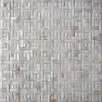 Wholesale white color arch shaped seamless stripes interior wall mosaic tile decorative wall tiles