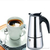 Wholesale New Cup Stainless Steel Moka Espresso Latte Percolator Stove Top Coffee Maker Pot A3