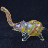 animal shapes custom - Elephant Shape Glass Pipes quot inch Colorful Oil Burner Glass Pipes Unique Design Smoke Pipe Custom Animals Cigarette Tobacco Pipes for Sale