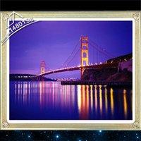 Wholesale 40X50cm D Needlework DIY Diamond Painting Cross Stitch Embroidery Home Decoration Pictures The Golden Gate Bridge San Francisco