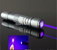 Wholesale high power nm mw W focusable blue purple laser pointer waterproof flashlight burning laser