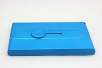 Wholesale Business card clip creative hand push metal aluminum alloy card box