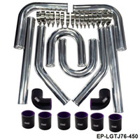 Wholesale NEW Universal Black quot mm Polished Aluminum FMIC Intercooler Piping Kit DIY Pipe Length mm EP LGTJ76