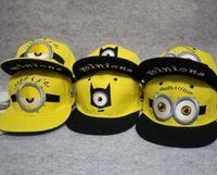 yellow baseball hat - 3pattern Cosplay Despicable Me Children Hat Cartoon Minion Snapback Fashion Boy Girls Yellow Embroidery Letter Sunhat Baseball Cap I4533