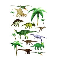 best halloween decor - Best Promotion Jurassic Dinosaurs Wall Stickers Boys Bedroom Removable Art Decor Transparent Home Room Decor Wall Sticker