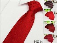 Corbata roja de la boda de China corbatas del poliester mezcló la porción 10 PC color de rosa