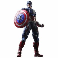 american plastic products - Hot Movie PLAY ARTS PA The American Captain PVC Action Figure Statue Doll Toy cm Model Collectible