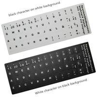 Wholesale Castellano Pegatinas Teclado Espanol Sticker Spanish Keyboard Castellano Portatil Laptop