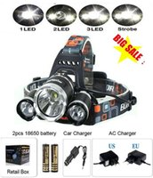battery powered led lamp - 6000 Lumens Headlight LED Cree XM L T6 R5 Head Lamp High Power LED Headlamp battery EU US AU UK Charger car charger
