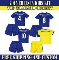 chelsea - Whosales Chelsea Kids Jersey Soccer Jerseys Chelsea FC DIEGO COSTA HAZARD Chandal Chelsea Set kits Children Free ShippinngTOP Quality