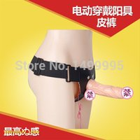 sex wear - Sex Toy Wear Leather Pants Hollow Leather Pants Artificial Membranously Fake Penis Die cast Panties Vibration Masturbation