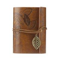 agenda leather cover - Rushed Sketchbook Stationery Agenda Vintage Notebook Leaf Leather Cover Loose Blank Journal Gift Jecksion