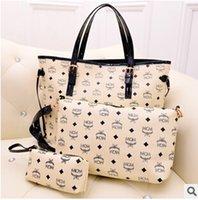 Wholesale 3pcs for set shipping Rivets MCM Sparkle Backpack Unisex hip hop backbag Most Popular Bag Schoolbag MCM shoulder bag handbag MCM bag