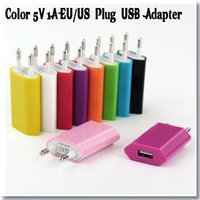 ac phone charger - USB Wall Charger EU Plug Power Adapter mobile phone AC Power Charger V A Travel Charger Drop shipping