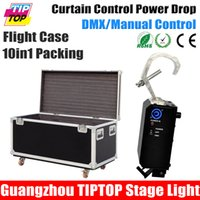Wholesale 10IN1 Flight Case Packing Led Curtain Control Power Drop Machine Stage Curtain Drop Open Effect Equipment Power in out Con Hand DMX Control
