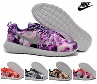 Painting Medium - WMS Nike Roshe Run Painted Floral Flower Multi Color Women Running Shoes Cheap Roshes Run Sport Trainers Size