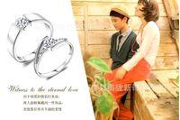 Wholesale 925 Sterling Silver Rings CT HALO DIAMOND ENGAGEMENT RING WEDDING BAND SET G H EGL USA K