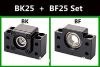 Wholesale BK25 BF25 Set one pc of BK25 and one pc BF25 for Ball Screw End Support CNC parts XYZ