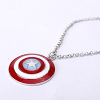 america direct - Collier Sautoir Long Middle Eastern Jewelry On Pendant Necklaces Unisex Hot New Super Hero Captain America Shield Necklace Factory Direct Us