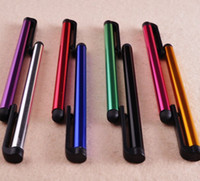 Wholesale HOT Capacitive Screen Stylus Pen Touch Pen For iPhone iPad iTouch Samsung Galaxy S5 S4 S3 Note Pad Tablet PC Cellphone