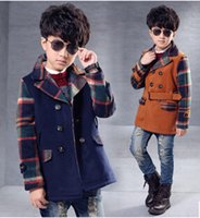 baby duffle coat - autumn boys wool winter jacket trench coats british style duffle coat button baby boy s wool windbreak coat