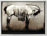 Wholesale canvas painting abstract horse impressionism giclee printing modern decorative art piece home decoration living room