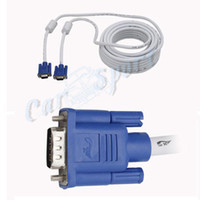 Wholesale HDB15 VGA Cable Male to Male FT VGA SVGA Extension Monitor Projector Cable White M VGA Cable