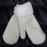 Wholesale Wool Gloves Winter Ultra Thick Warm Outdoor Fashion Mittens For Women Mens Long White Glove Fur Mitten Yj