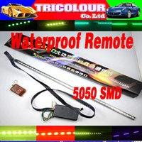 strobe light kit - DIY colors led knight rider light Strip Bar Under Car kit Strobe Interior Lamp Scanner Flashing Light set G02140