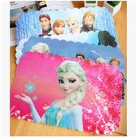baby recycle - 20pcs LJJ1916 cm Hot Sale Frozen Anna Elsa baby table place mat writing dinner dish pad cartoon placemat dish pad dinning pads