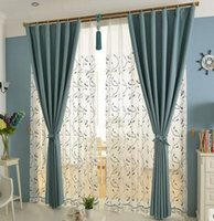 Wholesale Pure cotton linen curtains entire shade cloth finished custom high end modern minimalist living room bedroom Mediterranean