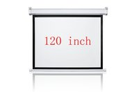 Wholesale 120 inches Wall Mounted Motorized Matt White HD Projection Screen with remote