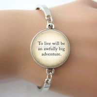 adventure quotes - 1 pc lo Peter Pan Quote Peter Pan To live will be an awfully big adventure fairy fantasy Letter charms jewelry bracelet bangle