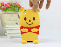 winnie the pooh s4 - 3D Cute Cartoon Winnie the Pooh Silicon Case For iphone S S iphone plus Samsung galaxy S3 S4 S5 Note Note free