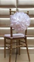 cheap furniture - White Ivory D Flower Chair Sash In Stock Cheap Pieces A Garden Wedding Party Chair Decoration