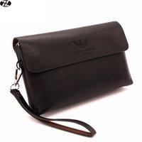 Wholesale new Long men wallets business pu leather bag men handbags clutch money bags for men purse black brown