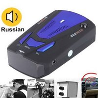 Wholesale DHL Car Detector V7 Degree Detection Voice Alert Speed Limited Radar Warning Vehicle Anti Russia English Voice with Led Display Red Blue