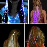 Wholesale Hallowmas hair accessories Festival Props Light Colorful flash LED Hearwear human hair weave headwear Pigtail Christmas Gift