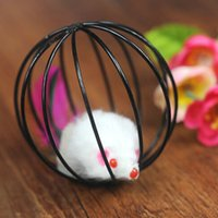 aluminum cages pet - 50PCS Pet Product Pet Toys Cat Toys Mouse With Cage Funny Hot Sale
