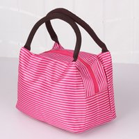 Wholesale Small Storage Compartments - 2016 Wholesale Zipper Closure Lunch Bag For Women Canvas Large Capacity Storage Bento Bag Picnic Pouch Portable Handbags ZB0172 Salebags