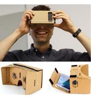 Expédition rapide rapide 500pcs DIY Google Cardboard réalité virtuelle VR Mobile Phone lunettes 3D pour 5,0