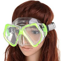 Wholesale Wide View Diving Swimming Mask Goggles Swim Diving Gear with Adjustable Strap Color Assorted