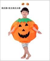 halloween bag - Kids HalloweenHalloween Pumpkin Clothes Clothes Suit coat hat pumpkins stick the bag Kids Halloween Pumpkin Clothes party costumes