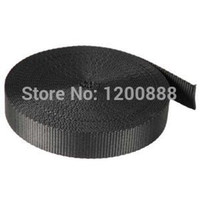 Wholesale 1 quot Inch Yards Black Nylon Webbing Q004