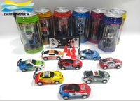 Wholesale Mini Coke Can RC Cars Mini Racer Remote Control Car Coke Can Mini RC Radio Remote Control Micro Racing Car Colors DHL